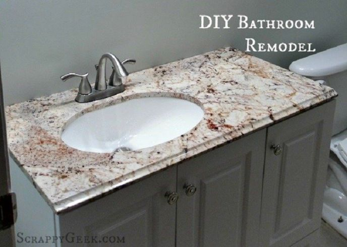 Diy Bathroom Remodel Photos we remodeled our bathroom! check it out…