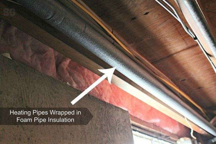 Foam Insulation on Heating Pipes