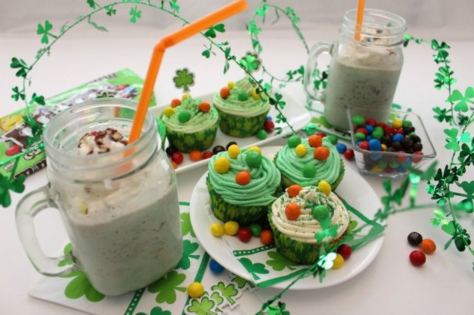 M&M's® Crispy St. Patty's Day Cupcake Recipe