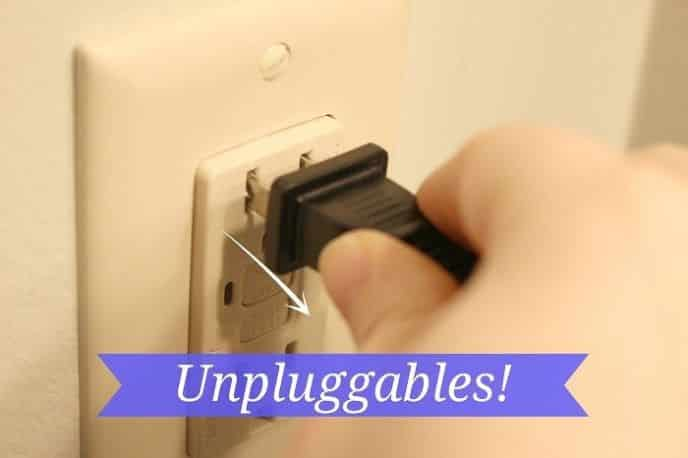 Unplug Appliances and Electronics to Save Energy