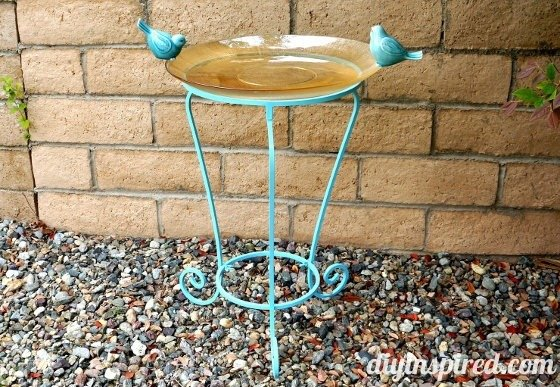How to make a bird bath