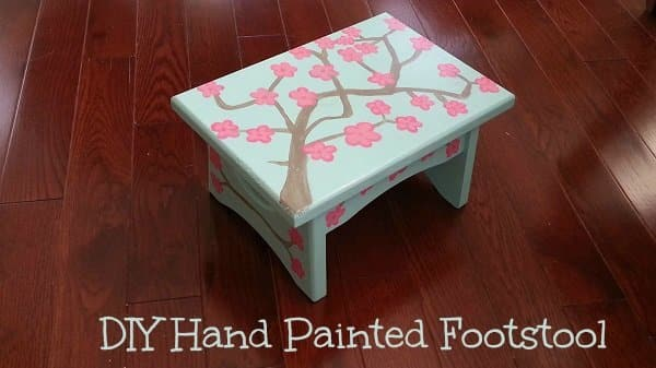DIY Footstool, Hand Painted