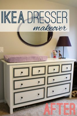How To Makeover an IKEA Dresser; DIY
