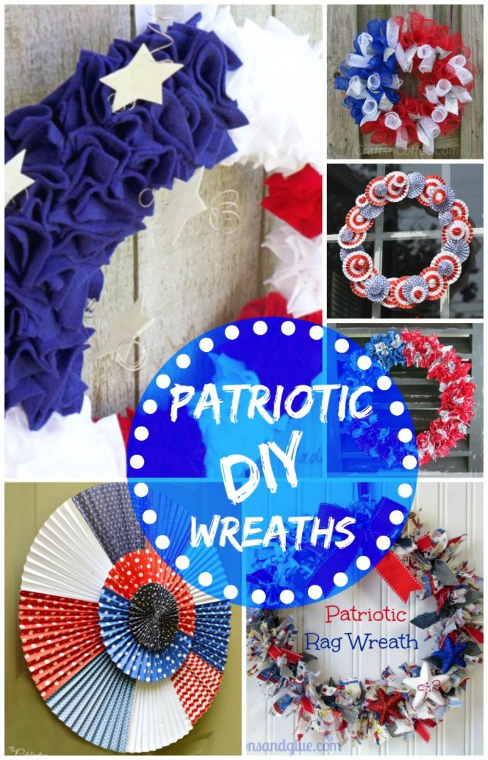 DIY Patriotic Door Wreaths, How To Make A Door Wreath