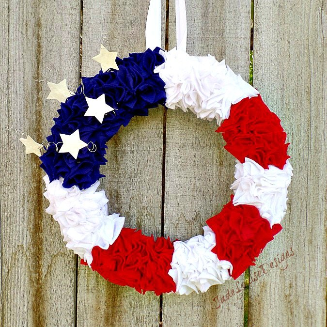 DIY Patriotic Door Wreath