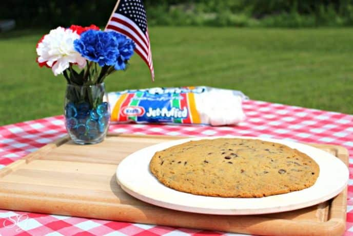 Giant Grilled Pizza Cookie