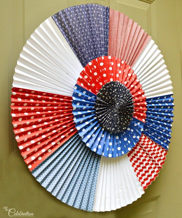 DIY Patriotic Door Rosette Wreath