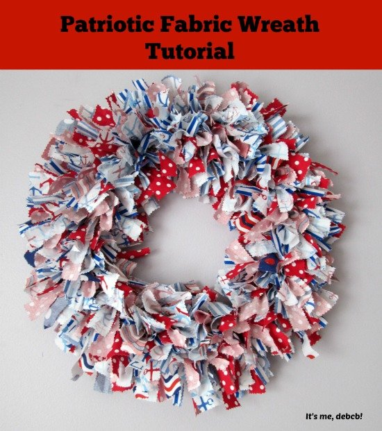 Patriotic DIY Fabric Wreath