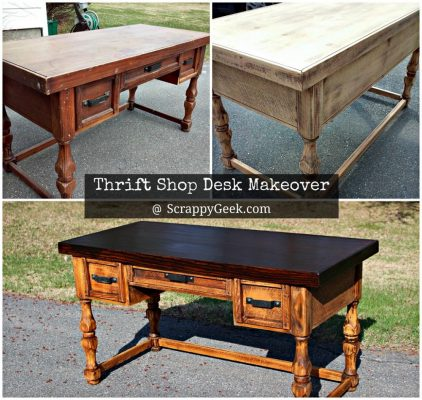 Thrift Shop Writing Desk Makeover