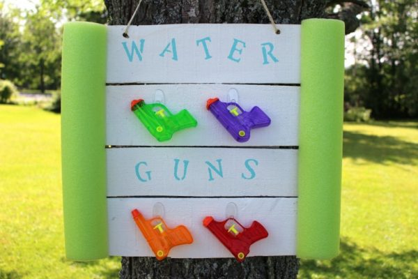 Water Gun Holder and Storage Unit