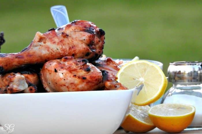 Hot BBQ Grilled Chicken Drumsticks with Habanero Hot Sauce