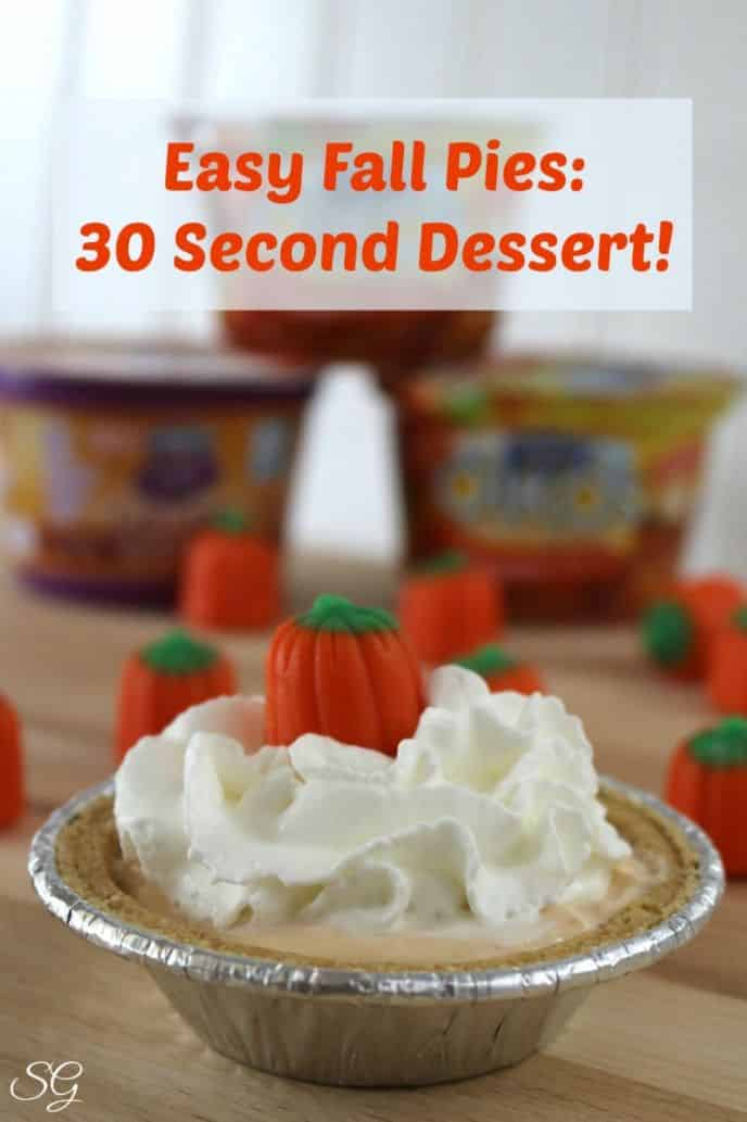Stop and drop everything! Take 30 seconds to make yourself a delicious EASY fall pie! A 30 second dessert is just, you guessed it - 30 seconds away!