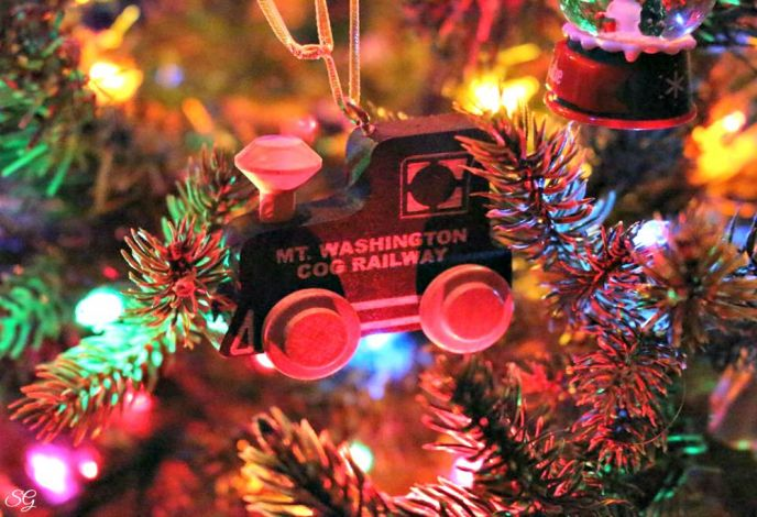 Mt. Washington Cog Railway Christmas Ornament