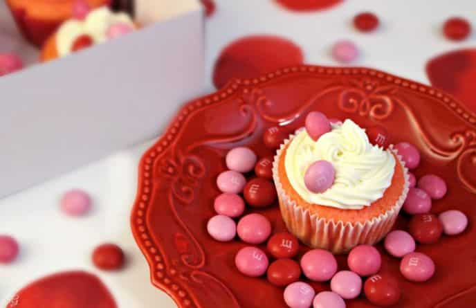 Strawberry Cupcake Recipe, Valentine's Day M&M's® Strawberry Flavor