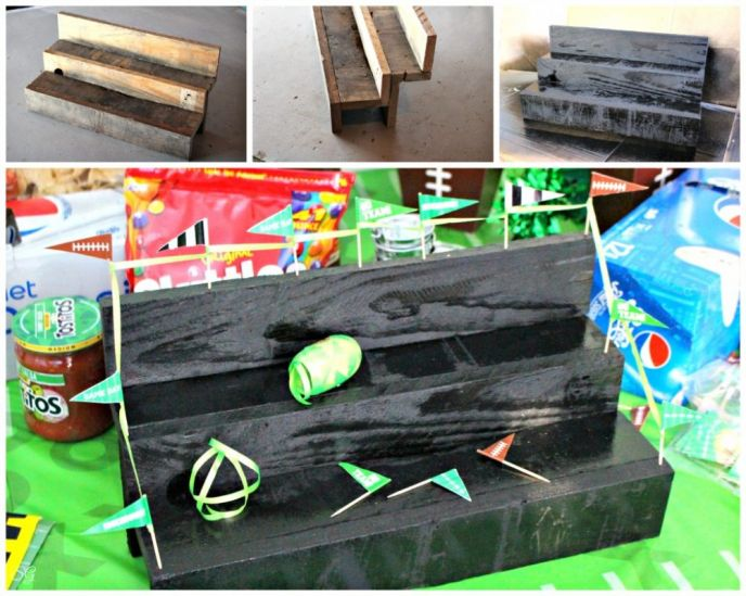DIY Party Table Sports Bleachers