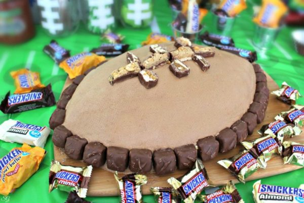 Football Cake for National Chocolate Cake Day