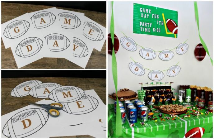 Football Game Day Banner Printable