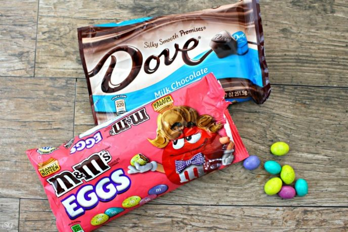 DOVE Chocolate and Peanut Butter M&M's Eggs