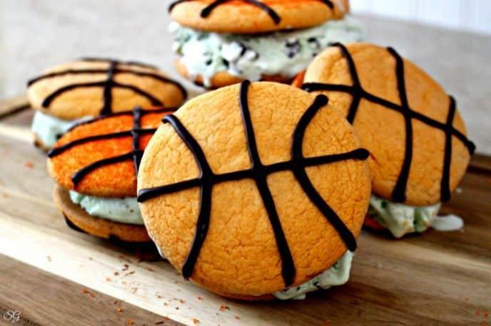 Basketball Ice Cream Cookies Recipe