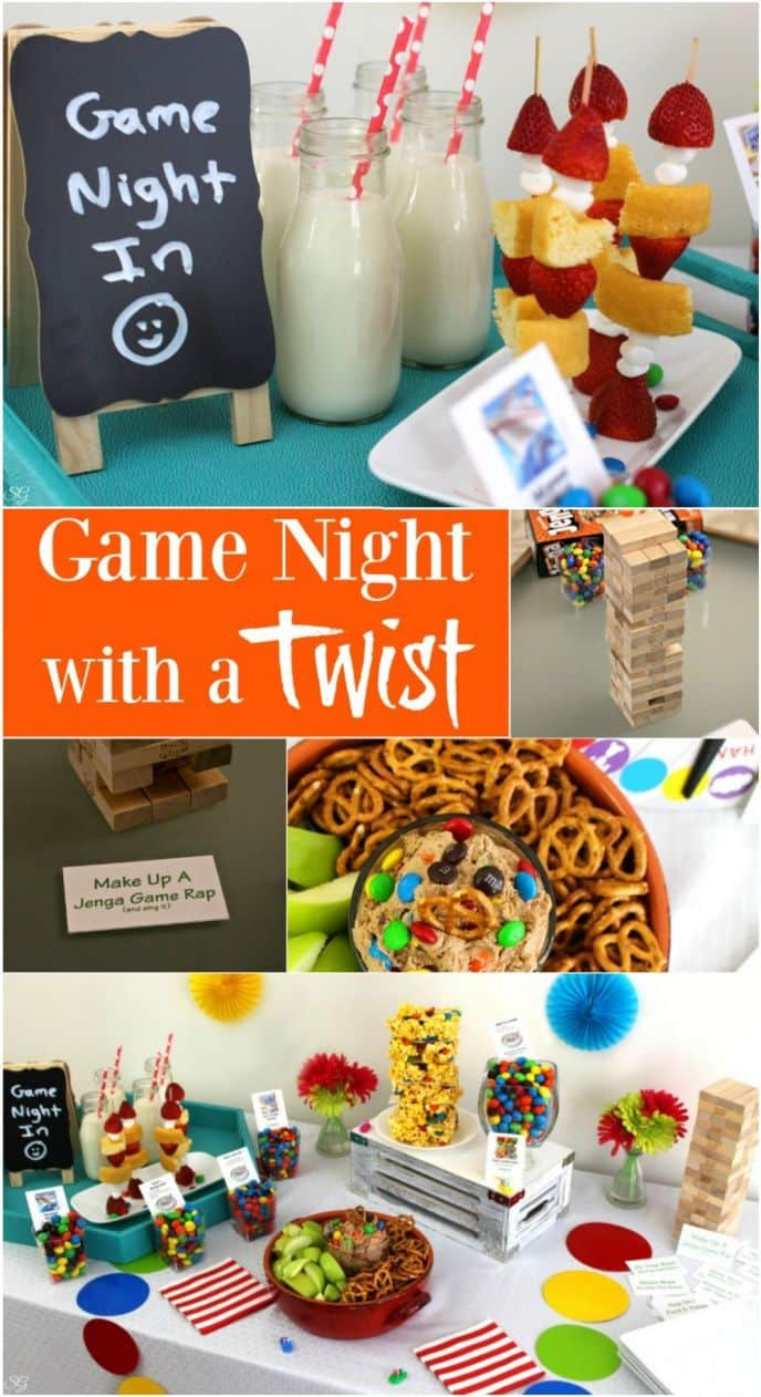 Game Night Party with Food and Classic Games