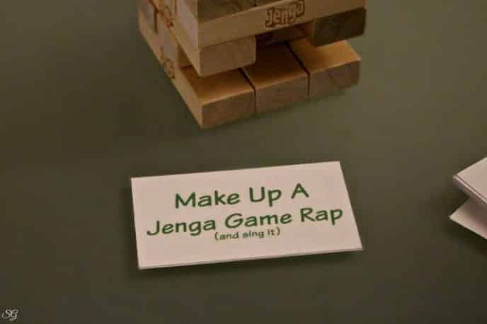 Printable Jenga Game Play Cards