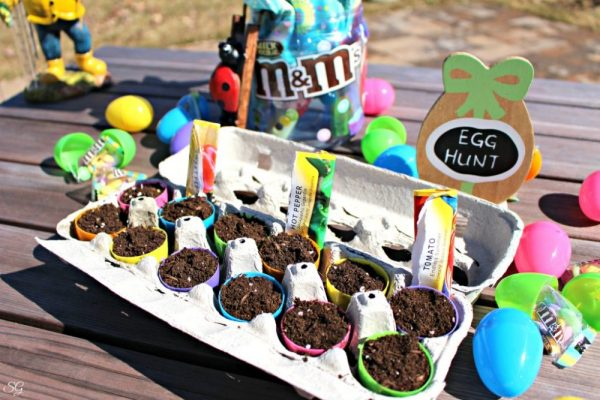 Planting Seeds in Plastic Easter Eggs