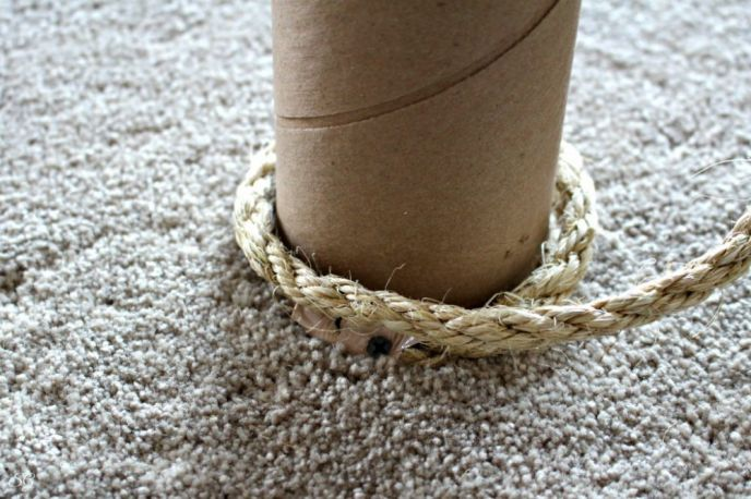 Restringing a Sisal Cat Scratcher