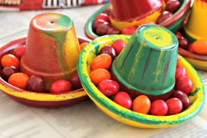 Cinco de Mayo Terra Cotta Pot Sombrero Crafts
