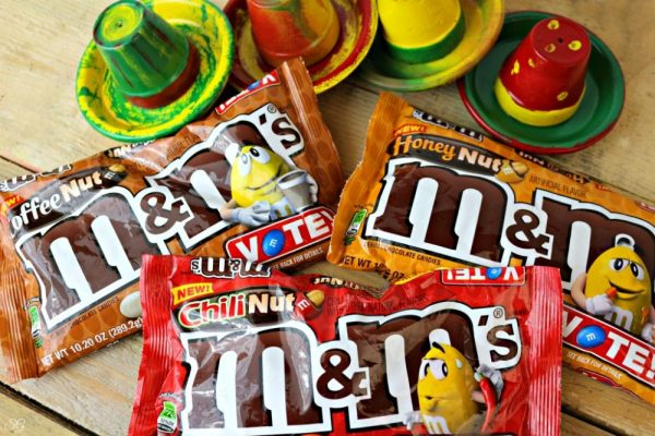 M&M's Chili Nut, Honey Nut and Coffee Nut Candy