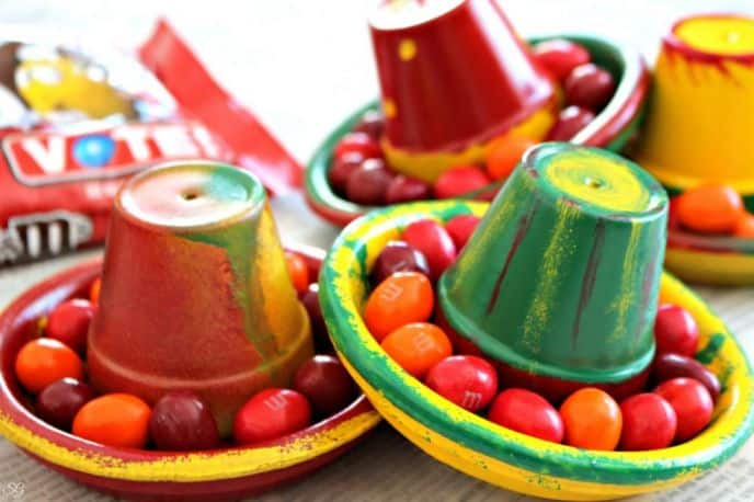 M&M's® Chili Nut Candies in Terra Cotta Sombreros
