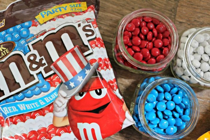Red, White and Blue Patriotic M&M's Candies