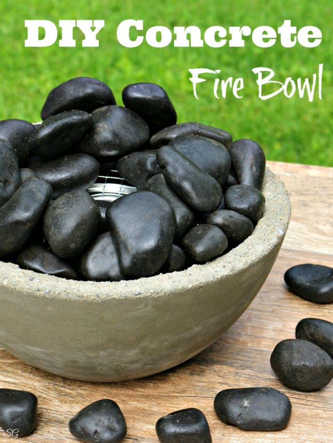 Tabletop fire bowl. Make a DIY concrete tabletop fire bowl for your outdoor space with this easy tutorial!