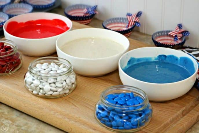 Red White and Blue Firecracker Cupcake Mix