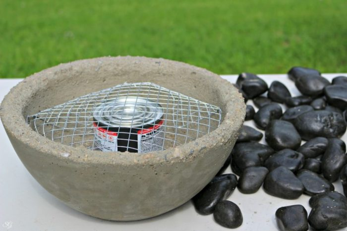 Chafing Fuel Concrete Fire Bowl