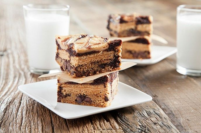 Peanut Butter Brownie Swirl Bars Recipe