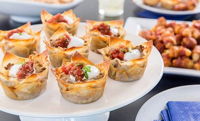 Bite Size Taco Cups Appetizer Recipe