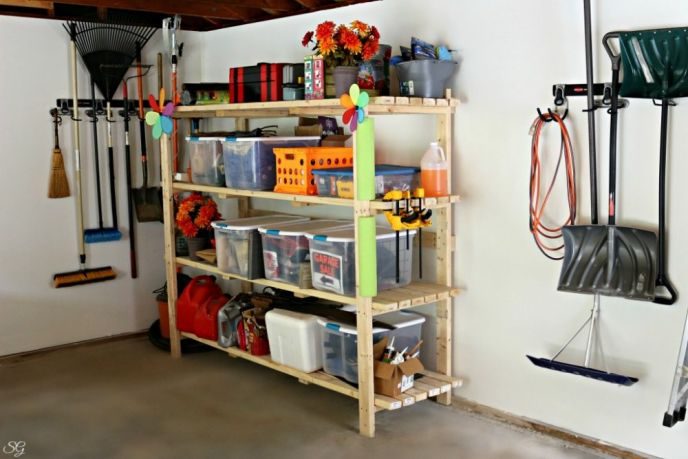 DIY 2×4 Garage Shelving