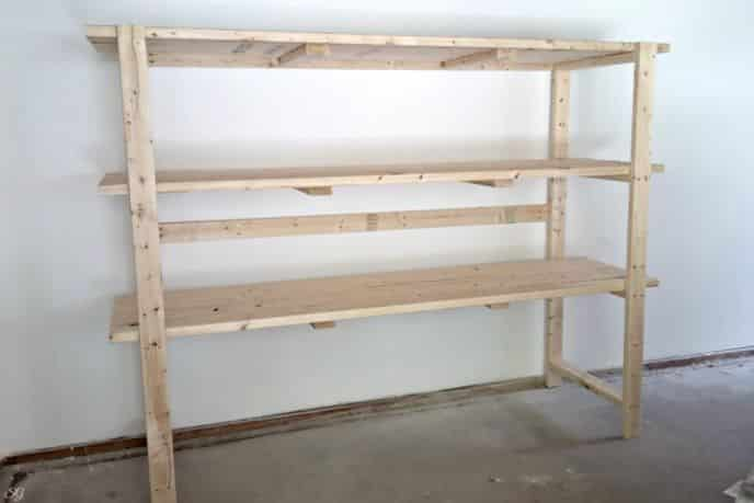 2x4 DIY Shelving Storage Unit