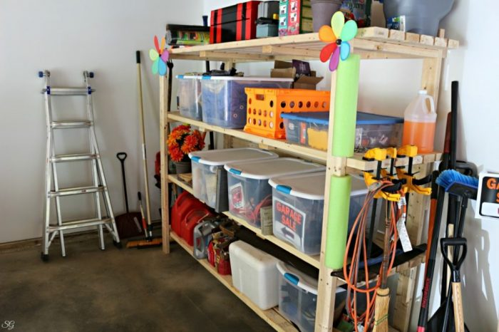 2x4 DIY Garage Storage Shelving Unit
