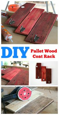 DIY Pallet Wood Coat Rack