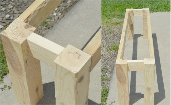 Bench Frame for DIY Rustic Bench