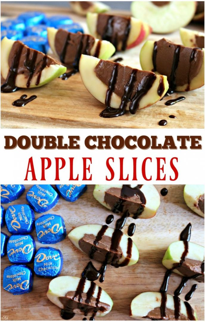 Easy Chocolate Filled Apple Desserts