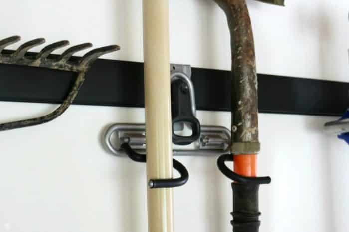 Dual Handle Holder for the FastTrack Garage Organizer