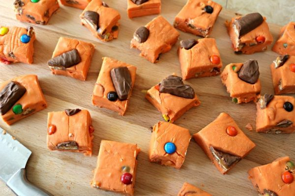 Halloween Candy Fudge Recipe