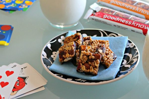 Game Night with goodnessknows® snack squares!