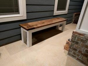 Rustic DIY Hallway Bench for Porch or Home Decor