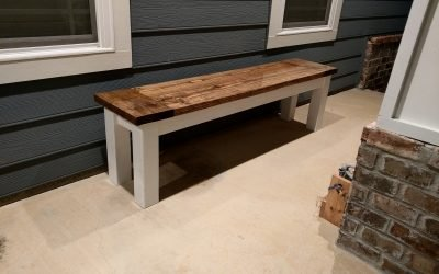 Rustic Bench DIY Home Decor