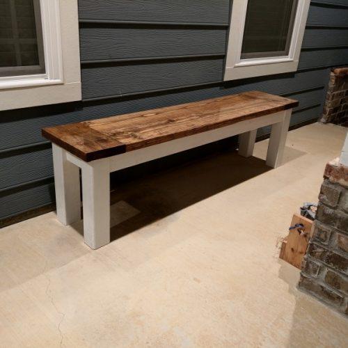 Rustic DIY Hallway Bench for Porch or Home Decor