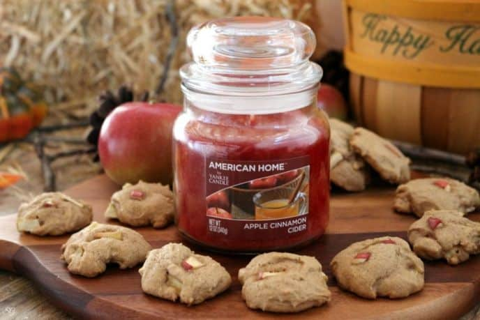 Apple Cinnamon Cookies and Candle Gift