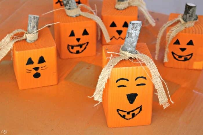 DIY Fall Pumpkin Halloween Jack O Lantern Crafts